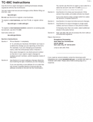 """Form TC-69C """"Notice of Change for a Business and/or Tax Account"""" - Utah, Page 3"""