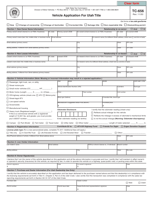 Form TC-656  Printable Pdf