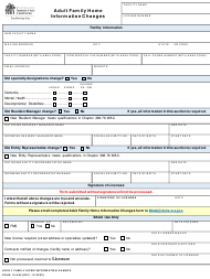 """DSHS Form 10-585 """"Adult Family Home Information Changes"""" - Washington"""