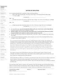 "Form 500-00421 ""Notice of Violation"" - Vermont"
