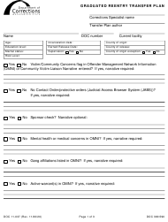 "Form DOC11-037 ""Graduated Reentry Transfer Plan"" - Washington"