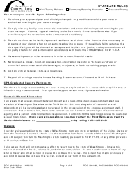 "Form DOC20-073 ""Standard Rules"" - Washington"