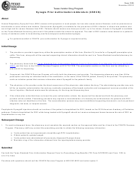 "Form 1325 ""Synagis Prior Authorization Addendum (Cshcn)"" - Texas"