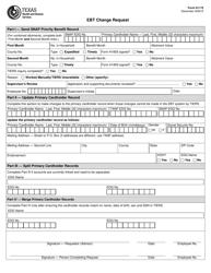 "Form H1175 ""Ebt Change Request"" - Texas"