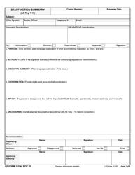 "AE Form 1-10A ""Staff Action Summary"""