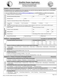 """Form SHELL-016 """"Shellfish Dealer Application"""" - Alaska"""