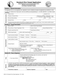 "Form SHELL-015 ""Geoduck Dive Vessel Application"" - Alaska"