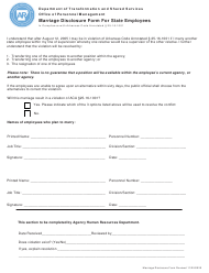 """Marriage Disclosure Form for State Employees"" - Arkansas"