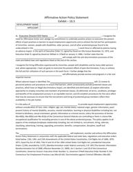 "Exhibit 10.3 ""Affirmative Action Policy Statement"" - Connecticut"