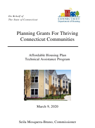 """Affordable Housing Plan - Planning Grant"" - Connecticut"