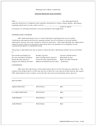 """LIHTC/HOME Form 01 """"Tenant Release and Consent"""" - Georgia (United States)"""