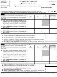 """IRS Form 1065 Schedule D """"Capital Gains and Losses"""", 2020"""