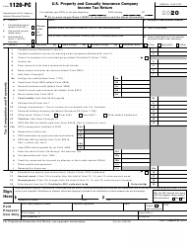 """IRS Form 1120-PC """"U.S. Property and Casualty Insurance Company Income Tax Return"""""""