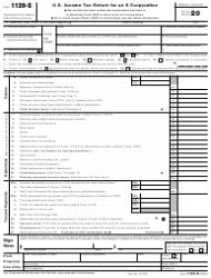 """IRS Form 1120-S """"U.S. Income Tax Return for an S Corporation"""""""