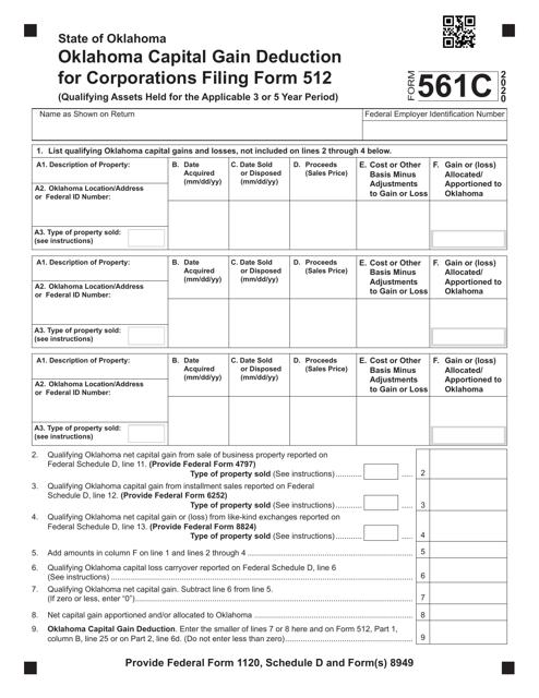 Form 561C 2020 Printable Pdf
