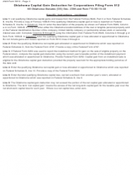 """Form 561C """"Oklahoma Capital Gain Deduction for Corporations Filing Form 512"""" - Oklahoma, Page 3"""