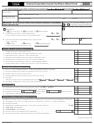 "Arizona Form 120A (ADOR10949) ""Arizona Corporation Income Tax Return (Short Form)"" - Arizona, 2020"