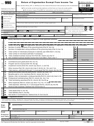 "IRS Form 990 ""Return of Organization Exempt From Income Tax"", 2020"