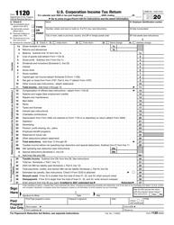 "IRS Form 1120 ""U.S. Corporation Income Tax Return"""