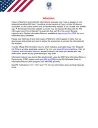 "IRS Form 5498 ""Ira Contribution Information"", 2021"