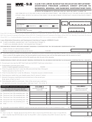 "Form NYC-9.8 ""Claim for Lower Manhattan Relocation Employment Assistance Program (Lmreap) Credit Applied to Business, General and Banking Corporations Taxes"" - New York City"