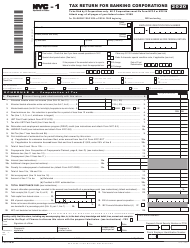 "Form NYC-1 ""Tax Return for Banking Corporations"" - New York City, 2020"