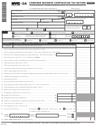 "Form NYC-2A ""Combined Business Corporation Tax Return"" - New York City, 2020"