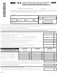 "Form NYC-9.5 ""Claim for Reap Credit Applied to Business, General and Banking Corporation Taxes"" - New York City, 2020"