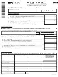 "Form NYC-9.7C ""Ubt Paid Credit Business Corporations"" - New York City"