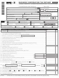 "Form NYC-2 ""Business Corporation Tax Return"" - New York City, 2020"