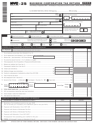 "Form NYC-2S ""Business Corporation Tax Return"" - New York City, 2020"