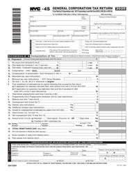 "Form NYC-4S ""General Corporation Tax Return"" - New York City, 2020"