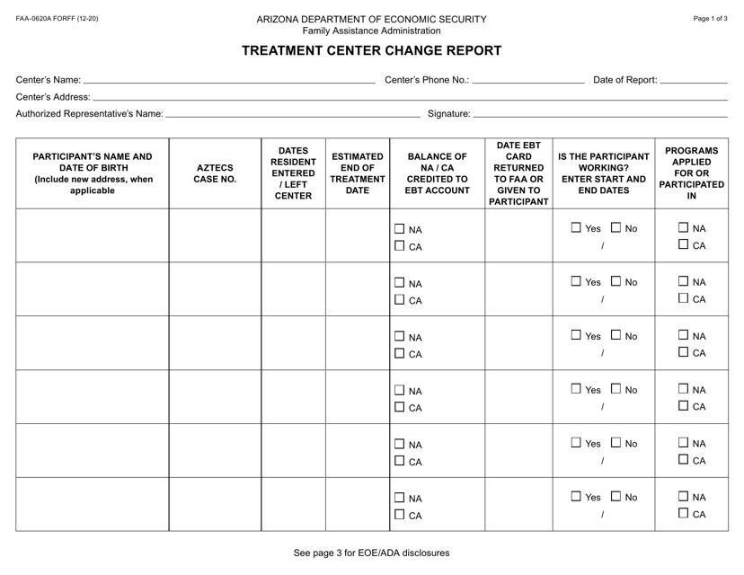 Form FAA-0620A  Printable Pdf