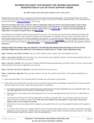 """Form FL-575 """"Request for Hearing Regarding Registration of out-Of-State Support Order"""" - California, Page 3"""