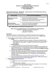 "Form DBPR BAR3 ""Application for Reexamination"" - Florida"