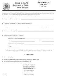 """Form 635_0111A """"Appointment of Agent (501b)"""" - Iowa"""