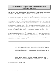 """Instructions for Form FAM108 """"Parenting/Financial Disclosure Statement"""" - Minnesota"""