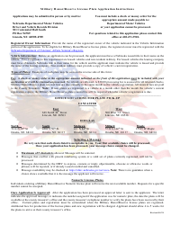 """Application for Military Honor/Reserve License Plates"" - Nebraska, Page 2"