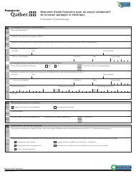 """Forme V-3184 """"Demande D'aide Financiere Pour Un Projet Collaboratif De Livraison Partagee Et Electrique"""" - Quebec, Canada (French)"""