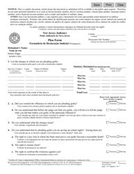 "Form 10079 ""Plea Form"" - New Jersey (English/Portuguese)"