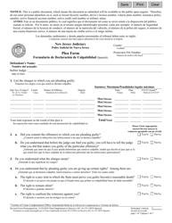 "Form 10079 ""Plea Form"" - New Jersey (English/Spanish)"