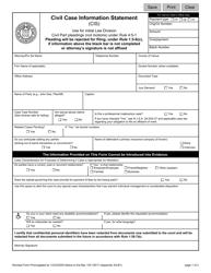 "Form 10517 Appendix XII-B1 ""Civil Case Information Statement (Cis)"" - New Jersey"