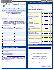 """Form 10673 """"Court User Satisfaction Survey - Mercer Vicinage"""" - New Jersey (English/Spanish)"""