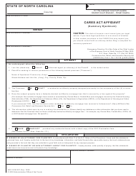 "Form AOC-CVM-207 ""CARES Act Affidavit (Summary Ejectment)"" - North Carolina"