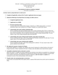"""Transfer of Surface Mining Permit"" - Oregon"