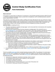 "Form MJ CS-001 ""Control Study Certification Form"" - Oregon"