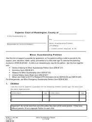 "Form GDN M102 ""Minor Guardianship Petition"" - Washington"