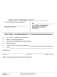 "Form GDN ALL001 ""Cover Sheet - Guardianship and/or Conservatorship Documents"" - Washington"