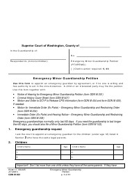 "Form GDN M202 ""Emergency Minor Guardianship Petition"" - Washington"