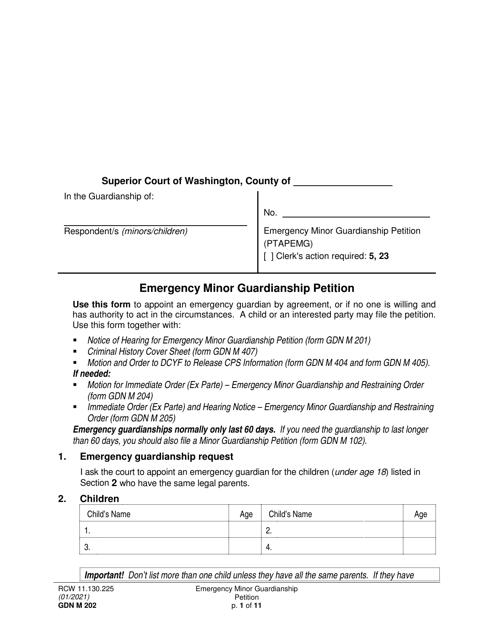 Form GDN M202  Printable Pdf